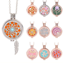 Living Memory Locket Hollow Owl Fragrance Aromatherapy Diffuser Necklace Gift(China)