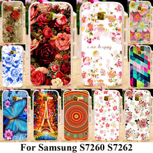 AKABEILA Silicone Plastic Phone Cases For Samsung Galaxy Star Plus S7260 S7262 Pro GT-S7262 i679 4.0 inch Cover Rose Flowers(China)
