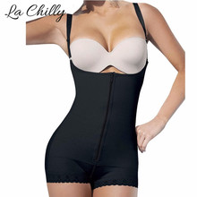 Buy Slimming Girdles hot body shapers women butt lifter latex waist cincher full body corsets panties Shapewear sheath waist-trainer