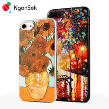 Phone Cases Sunflower Vincent Van Gogh Starry Sky Oil Painting Back Cover for iPhone SE 4s 5s 6 6s Plus Phone Cases Retro Art