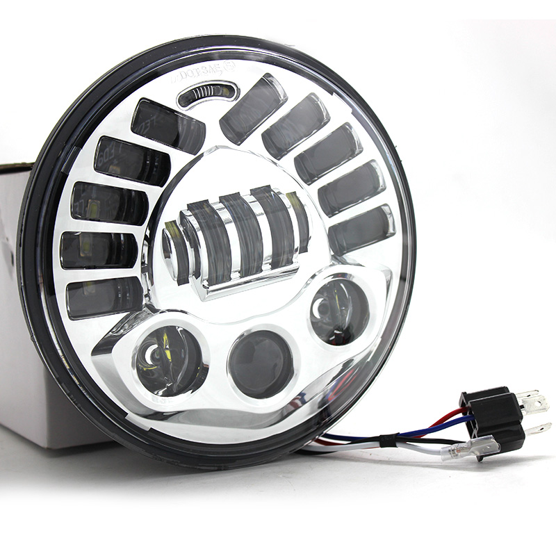 7 inch Round Motorcycle Led Projector Daymaker Adaptive Headlight High Low Beam For Harley BMW R NineT R9T LED Headlamp (8)