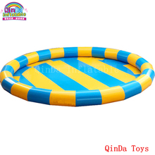 Diameter 6m round pool with free pump ,inflatable swimming pool for water games(China)