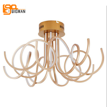 new design modern LED chandelier ceiling fixtures  Dia61*H32cm minimist living room lamp gold chandeliers