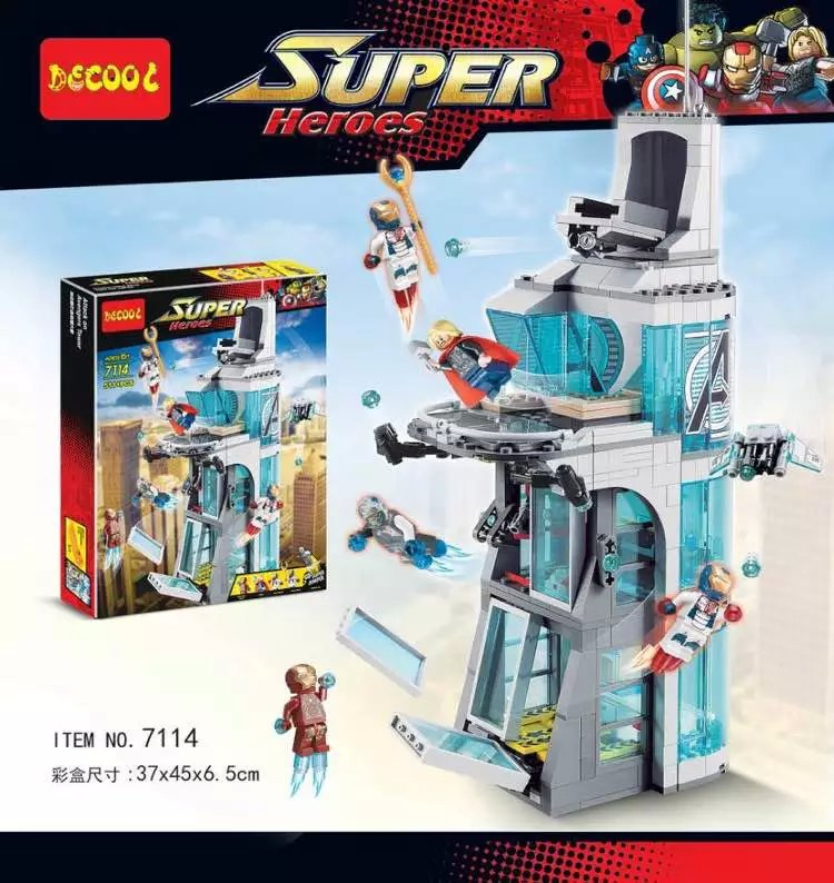 Bevle Decool 7114 Avenger Super Hero Command Building Bricks Giant Building Block Toys Compatible with Legoe 76038<br><br>Aliexpress