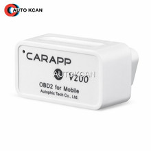 Original AUTOPHIX CARAPP V200 OBD2 For Mobile Mini Smart Car Trip Computer CARAPP V200 Work With IOS/Android Dual-System