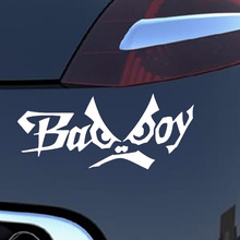 15.6*6.3CM 10 Colors English Alphabet Bad Boy Creative Personality Funny Eyes Car Styling Fashion Vinyl Car Stickers Decals