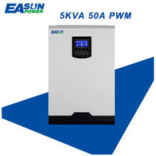 EASUN POWER Solar Inverter 4000W 50A PWM Off Grid Inverter 5Kva Pure Sine Wave Inverter 48V to 220V Inverters 60A AC Charger