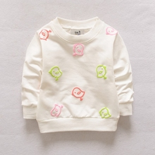 Baby Toddler Kids Girls  Spring Autumn Tshirts Beautiful Character Print  12M-36M 70-100cm Children Clothes G006