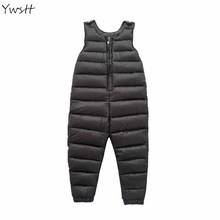 YWSTT Children'S Down Jacket Pants Baby Boys Outside Crotch Strap Winter Girls Kids Trousers Thick Down Vest Windproof(China)