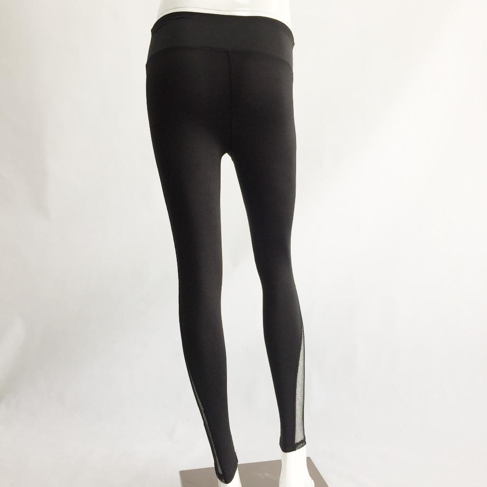 New Women Push-up Sporting Leggings Black Fashion Net Hollow Elastic Skinny Fitness Leggings Sporting Clothing For Women 8