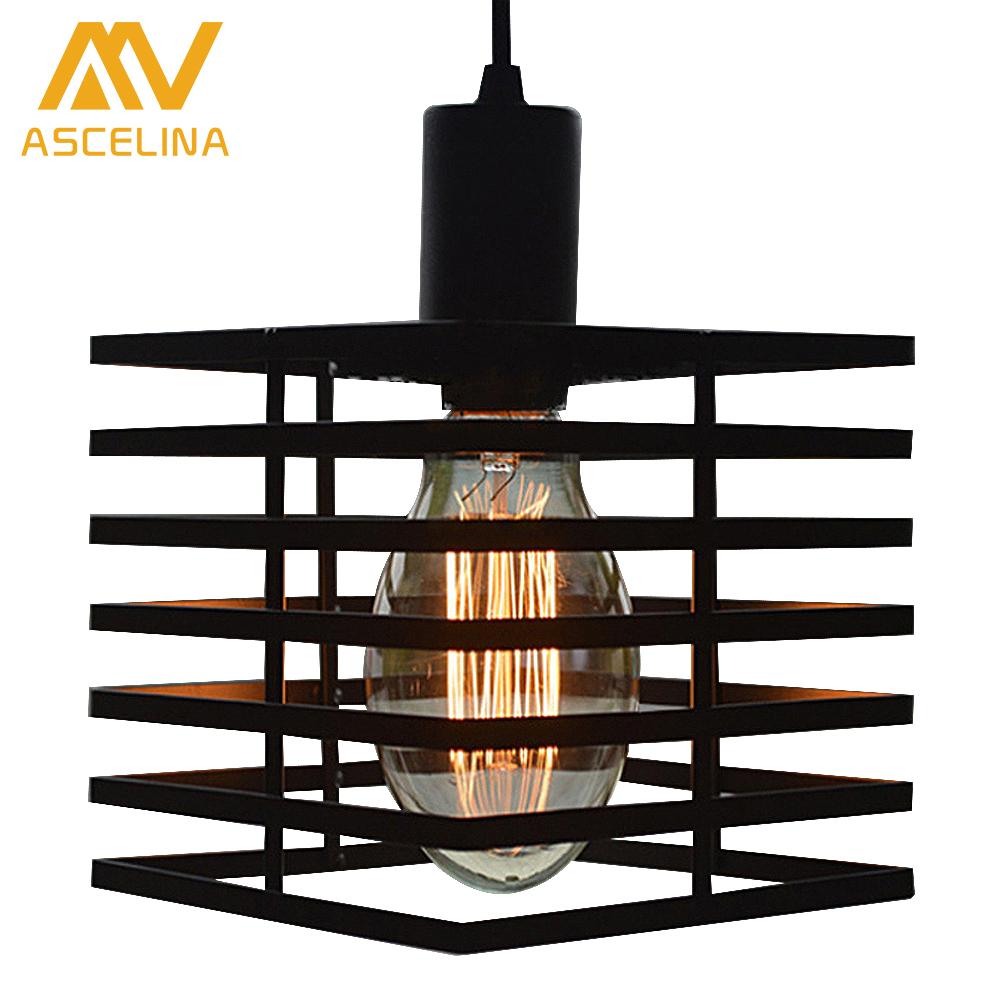 LOFT Bar restaurant aisle stairs personality wrought iron hanging lamp pendant lights suspension luminaire vintage Lamp lighting<br><br>Aliexpress