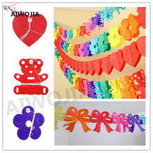 3M wall hanging paper pull flowers  paper butterfly wedding flag home decoration party supplies wedding decoration 1pcs/5ZSH766