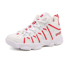 2017 new men Basketball Shoes leather women kids sport basket sneakers air Antislip Athletic Training Zapatillas plus size 9 10(China)
