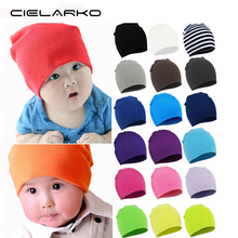Cielarko Autumn Winter Warm Kids Hat Cotton Baby Hat Girl Boy Toddler Infant Kids Caps Candy Color Lovely Baby Beanies Hat 077