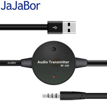 JaJaBor Universal Bluetooth Stereo Audio FM Transmitter 3.5mm Wireless Transmitter Dongle For Audio Video Player