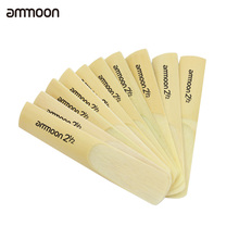 ammoon 10pcs Sax Reeds 2.5 2-1/2 Bamboo Reeds Set for Eb Alto Saxophone Sax woodwind instrument parts & accessories