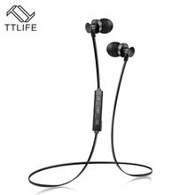TTLIFE New Sports Wireless Earphone Bluetooth Stereo Earbuds Super Bass Headsets with Mic In-Ear Earpiece for IOS Android Phones(China)