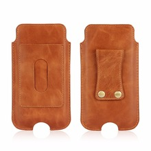 First Layer Cow Leather Belt Clip Card Wallet Strap Hand Mobile Phone Case For Oppo F3 Plus/F1 Plus//R9/R7S,Coolpad Cool S1