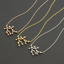 Daisies One Piece Gemini Zodiac Necklace Constellation Astrology Sign Necklace for Women Beautiful Star Sign Birthday Gift