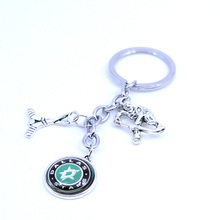Ice Hockey Keychain NHL Dallas Stars Charm Key Chain Car Keyring for Women Men Party Birthday Keyrings Gifts New 2017