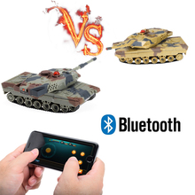 1/36 RC Battle Mini Tank With Smart Phone Bluetooth Controlled Gravity Sensing Commander Series Rc Toy Kid Fun Gift