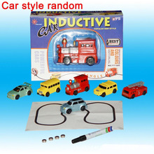 Hot Sale 1 Piece Magic Toy Truck Inductive Car Magia Excavator Tank Construction Cars Truck Magic Track with Retail Box Package