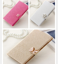 Cover For LG Leon C40 4G LTE H340N H324 (4.5'') mobile phone case new luxury flip cover with kinds of diamond buckle