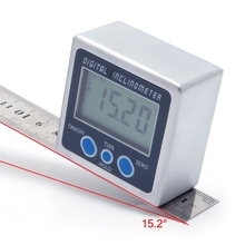 Digital Protractor Inclinometer Level Box Level Measuring Tool Electronic Angle Meter Finder Angle Gauge Magnetic Base