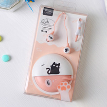 Cute Cat Pets Kids Earphones 3.5mm in-ear with Cartoon Earphone Case for Phone Xiaomi Girls Kid Child Student for MP3 MP4 Gift
