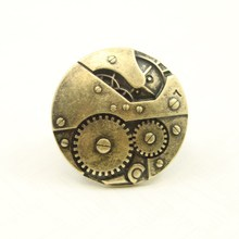 Fashion accessories vintage big gear ring female male finger ring punk