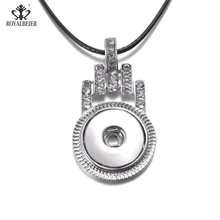 RoyalBeier Pyramid Loop Snap Buttons Pendant Necklaces Fit 18mm Snaps DIY Leather Necklace Charms Jewelry For Women Collier(China)