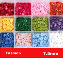 7.5mm Mini size sewing button, bulk buttons,sewing accessories,Resin Buttons wholesale(SS-101)