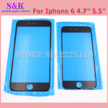 10 pcs/lot Premium A+ Quality LCD touch screen Front glass lens For iphone 5 5G 5S 5C For iphone 6G 6 6s 7 plus Outer Glass lens(China)