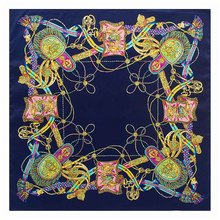 New Style Autumn Winter Fashion Ladies Scarves 60Cm * 60Cm Twill Silk Scarf H Rope Fringed Scarves Small Square Womens Scarfs