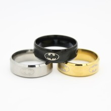 The Hobbit Stainless Steel Jewelry Rings BatMan women's trendy Black Golden Silver Ring CBRL All website the lowest price(China)