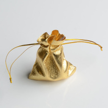 50pcs/bag Adjustable Jewelry Packing silver/ gold colors drawstring Velvet bag 7x9cm,Wedding Gift Bags & Pouches