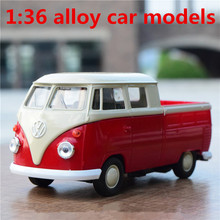 1:36 alloy car models,high simulation Volkswagen classic minivan,metal Diecasts,toy vehicles,high-end ornaments,free shipping(China)