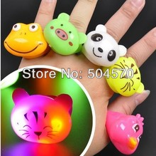 20pcs/lot Glow Cartoon Glowing Finger Rings Soft Party Flashing Ring Light Kids/Events/Party Light-up Supplies Favors(China)