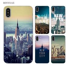 BINYEAE New York City Clear Cell Phone Case Cover for Apple iPhone X 6 6s 7 8 Plus 4 4s 5 5s SE 5c(China)