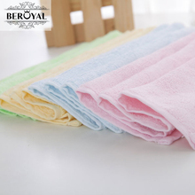 New 2017 -- 4pc/Lot 25*48cm Bamboo Hand Towel Baby Face Cloth Plain Dyed Children Bibs Soft Towels bathroom Brand Towel