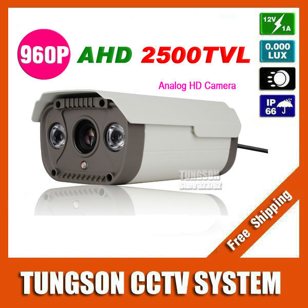 Free Shipping NEW Cam 2500TVL Security 960P Surveillance Waterproof outdoor AHD 2* Array infrared Night Vision 1.4MP CCTV Camera<br>