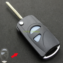 LinHui for SUZUKI WAGON R Key Shell 2 Buttons Uncut Blank Cooper Blade Modified Remote Key Replace ABS Shell 1PC With Logo