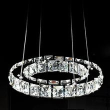 Hot sale Modern One Circles 9W LED Crystal Chandelier Light Modern Pendant Fixture With D400 Position Diamond Ring 110V or 220V
