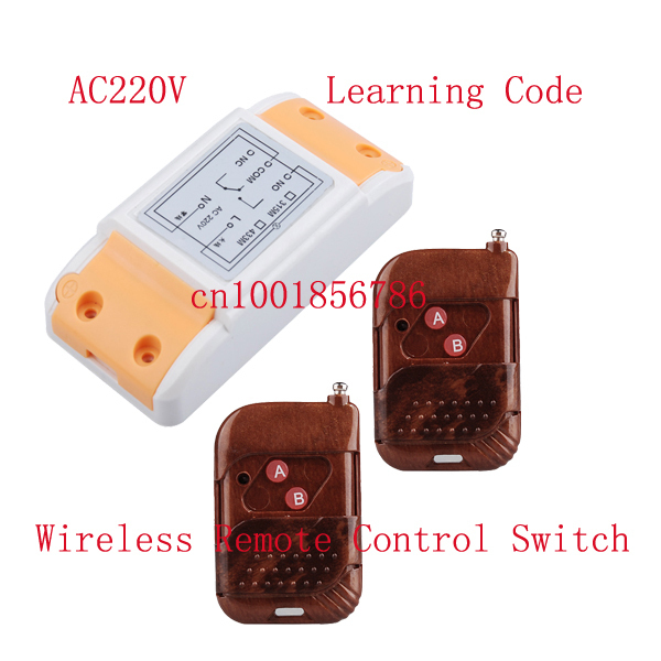 AC220V 10A 1CH universal gate rf remote control switch wireless remote switch smart home automation control momentary switch<br><br>Aliexpress
