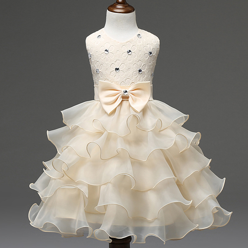 2017 New Fashion Brand Girl Dress Summer 3-10Years Floral Baby Girls Dress Vestidos 6 Colors Wedding Party Baby Bow Clothes <br><br>Aliexpress