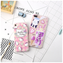 Hello Kitty Milk ice cream 2.5D Relief Soft Case For Coque iPhone 6 6s 6plus 7 7plus Cases TPU Silicone Back Cover Funda Capinha(China)