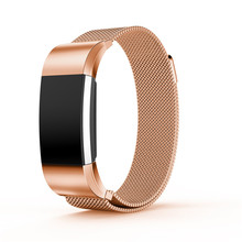4 Colors Replacement Bands for Fitbit Charge 2 Strap for Fitbit charge 2 Band Magnetic Milanese Stainless Steel Bracele