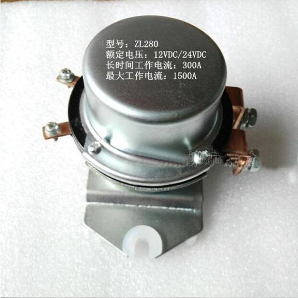 Automobile relay  ZL280 electromagnetic current 300 A rated current  peak 1500A DC24V Special large current relay<br><br>Aliexpress