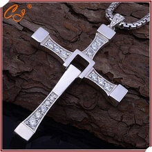 Fast and Furious Necklace, Man Cross Necklace, Man Praying Holy Article Dominic Toretto Jesus Necklace