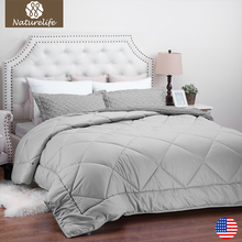 Naturelife 2017 New Warm Full Filling Duvet  High Quality Solid color Down Duet Breathable down Comforter edredom futon